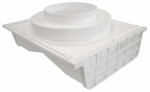Lambro Industries 164W Under-Eave Dryer Vent, Double-Sided, White Plastic, 4 To 6-In. Collar