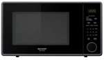 Almo Distributing Wisconsin SMC1131CB Microwave Oven, 11-1/4-In. Turntable, Black, 1.1-Cu. Ft.