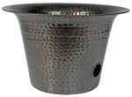 Liberty Garden Products 1913 Hose Storage Pot, Hammered Copper, Holds 75-Ft.