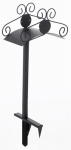 Liberty Garden Products 645 Hose Stand, Black Steel, Holds 125-Ft.