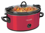 Sunbeam Products SCCPVL600-R Crock Pot Slow Cooker, Red, 6-Qt.