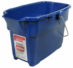 Rubbermaid 1793555 Roughneck Bucket, Royal Blue, Rectangular, 14-Qt.