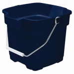 Rubbermaid 2871-00-ROYBL Roughneck Bucket, Royal Blue, Square, 15-Qt.