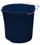 Rubbermaid 2963-TP-ROYBL Neat 'N Tidy Pouring Bucket, Royal Blue, Round, 11-Qt.