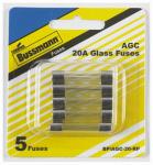 Cooper Bussmann BP-AGC-20-RP 5PK 20A Ferrule Fuse