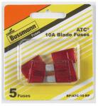 Cooper Bussmann BP/ATC-10-RP Blade Fuses, Red, 10A, 5-Pk.