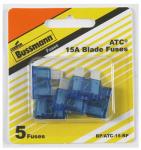 Cooper Bussmann BP-ATC-15-RP 5PK 15A BLU Auto Fuse