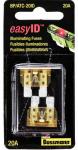 Cooper Bussmann BP-ATC-20ID Easy ID Illuminating Auto Fuse, 2-Pk., 20A