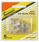 Cooper Bussmann BP-ATC-25-RP 5PK 25A CLR or Clear or Cleaner Auto Fuse
