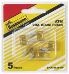 Cooper Bussmann BP-ATM-20-RP 5PK 20A Yellow Auto Fuse