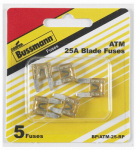 Cooper Bussmann BP-ATM-25-RP 5PK 25A CLR or Clear or Cleaner Auto Fuse