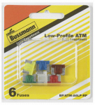 Cooper Bussmann BP/ATM-A6LP-RP Low-Profile Auto Fuse Assortment, 6-Pc.