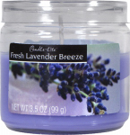 Candle Lite 2400404 Scented Candle Jar,  3.5-oz.,  Fresh Lavender Breeze  Wax