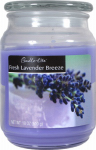 Candle Lite 3297404 Scented Candle Jar,  18-oz.,  Fresh Lavender Breeze Wax