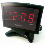 Nyl Holdings/Westclox 70014A LED Plasma Alarm Clock, Black