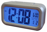 Nyl Holdings/Westclox 70045 LCD Alarm Clock, Silver