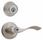 Kwikset 690BL 15 CP K6 Balboa Entry Lever & Deadbolt Combo Pack, Satin Nickel