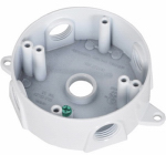 Hubbell Electrical Products BRD-4-W White Weatherproof Round Outlet Box