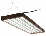 Hydrofarm FLP44 Hydroponic T5 Lamp Fixture, 4-Ft./4-Tube Designer System w/ Bulbs