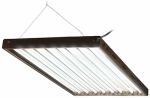 Hydrofarm FLP48 Hydroponic T5 Lamp Fixture With 8 Grow Bulbs, 49 x 5 x 28-In., 120-Volt