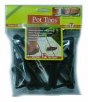 Plant Stand PT-12BLHT Decksaver Garden Pot Toes, Black, 3-In., 12-Pk.