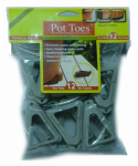 Plant Stand PT-12LGHT Decksaver Garden Pot Toes, Light Gray, 3-In., 12-Pk.