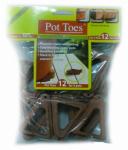 Plant Stand PT-12TCHT Decksaver Garden Pot Toes, Terra Cotta, 3-In., 12-Pk.