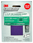 "3M 99660ES 3M(TM) SandBlaster(TM) 10 Pack, 60 Grit, 4.5""x5.5"" Sanding Sheet For Palm Sanders - 99660ES"