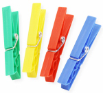 Honey Can Do Intl DRY-01390 Clothespins, Plastic, Assorted Colors, 24-Pk.