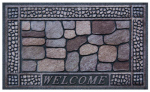 Multy Home Lp MT5000712 Doormat, Outdoor, Cobblestone Welcome Pattern, 100% Recycled Rubber Tires, 18 x 30-In.