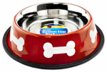Westminster Pet Products 19232 Pet Bowl, Red/White Stainless Steel, 32-oz.