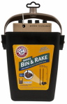 Petmate 71034 Cat Litter Cleanup Bin & Rake, Extends 32-In.