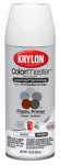 Krylon Diversified Brands K05132102 Colormaster Plastic Spray, Sandable/Semi-Gloss Primer, White, 12-oz.
