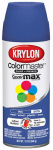Krylon Diversified Brands K05356802 Colormaster Spray Paint, Indoor/Outdoor Use, Satin Iris 12-oz.
