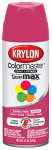 Krylon Diversified Brands K05357102 Colormaster Spray Paint, Indoor/Outdoor Use, Gloss Mambo Pink, 12-oz.