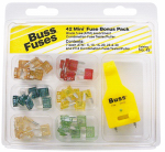 Cooper Bussmann NO-43 ATM Mini Fuse Assortment, 43-Pc.