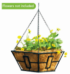 Panacea Products Corp-Import 87850 Hanging Basket, Black, 14-In. Sq.