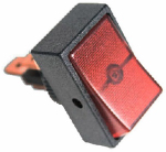 Uriah Products UA403600 Rocker Switch, Red, 1/2-In., 20A
