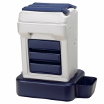 Bergan 11713 Pet Feeder, Automatic, Food/Water, 25-Lbs./5-Gals.