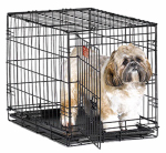 "Midwest Metal Products 1524 Dog Training Crate, Black, 24""L x 18""W x 19""H"
