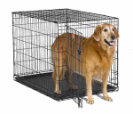 "Midwest Metal Products 1542 Dog Training Crate, Black,  42""L x 28""W x 30""H"