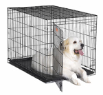 Midwest Metal Products 1548 Dog Training Crate, Black, 48-In.