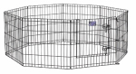Midwest Metal Products 550-24DR Pet Exercise Pen, Black, 24-In.