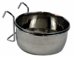 Bergan 88448 Pet Kennel Bowl, Stainless Steel, 3-Cups