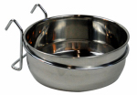 Coastal Pet Products 88449 Pet Kennel Bowl, Stainless Steel, 4-Cups