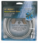 Whedon Products AF205C-SN Shower Hose, Bungy Metal Stretch, Brushed Nickel, 59-In.