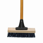 Cequent Consumer Products 918AF Deck Scrub Brush With Flexible or Flex Sweep Connector, Stiff Synthetic Bristles, 10-In.