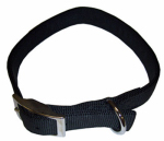 Coastal Pet Products 02901 B BLK22 Dog Collar, 2-Ply, Black Nylon, 1 x 22-In.