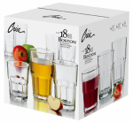 Libbey Glass 1783099 Boston Beverage Glassware Set, 18-Pc.