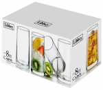 Libbey Glass 55652 Cabos Beverage Glassware Set, 16-oz., 8-Pc.